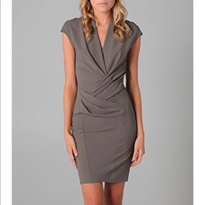 Helmut Lang Cap Sleeve Dress with Draping